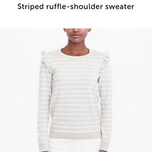 a1669c7be1229c J. Crew Factory Sweaters - NWT J Crew Factory ruffle shoulder sweater